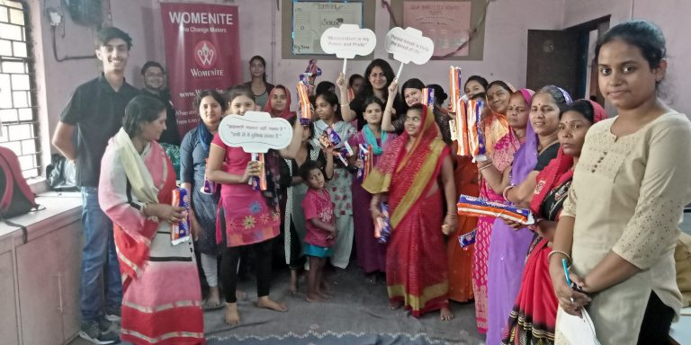 Menstrual hygiene day 2018 at Kirti Nagar