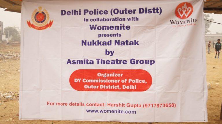 Nukkad natak_Womenite_Delhi Police_Asmita Theatre
